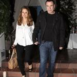 John Travolta and Kelly Preston leave Barbra Streisand's 70th birthday party  112443