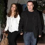 John Travolta and Kelly Preston leave Barbra Streisand's 70th birthday party  112444