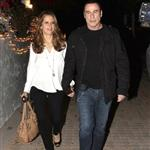 John Travolta and Kelly Preston leave Barbra Streisand's 70th birthday party  112450