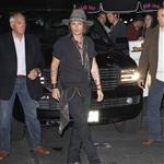 Johnny Depp at Steven Tyler's party at Pink Taco restaurant in Los Angeles 122622