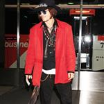 Johnny Depp arrives at Tokyo International Airport  114369