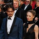 Johnny Depp at the 77th Annual Academy Awards, February 27, 2005 with Vanessa Paradis 106885