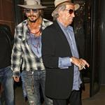 Johnny Depp goes out with Keith Richards in London 68975