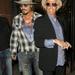 Johnny Depp goes out with Keith Richards in London 68976