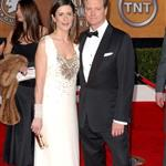 Colin Firth and wife Livia at SAGs 2010 53912