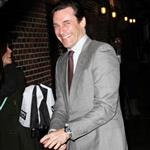 Jon Hamm visits The Late Show with David Letterman in NYC 107835