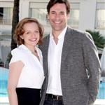 Jon Hamm Elisabeth Moss at Mad Men photo call in Cannes during MIPCOM  70083