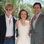 Robert Redford Jon Hamm Elisabeth Moss in Cannes at MIPCOM  70278