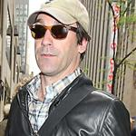Jon Hamm arrives at the NBC studios in NYC, April 2012 114143