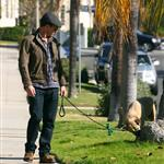 Jon Hamm takes his dog for a walk in Los Feliz 102401