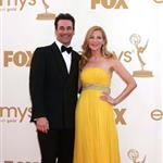 Jon Hamm and Jennifer Westfeldt at the Emmy Awards 2011  94628
