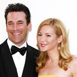 Jon Hamm and Jennifer Westfeldt at the Emmy Awards 2011  94630