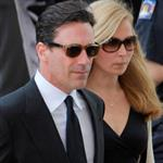 Jon Hamm and Jennifer Westfeldt attend the Nora Ephron Memorial Service on July 9, 2012 in New York City 121700