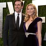 Jon Hamm and Jennifer Westfeldt at Vanity Fair Oscar party 2012 107503