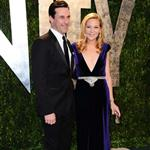 Jon Hamm and Jennifer Westfeldt at Vanity Fair Oscar party 2012 107506