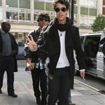 Jonas Brothers in London to promote concert movie 38981