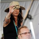 Catherine Zeta-Jones tacky phone at New Orleans Jazz Festival 84921