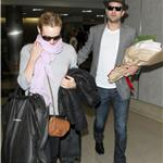 Joshua Jackson greets Diane Kruger at LAX on Valentine's Day with flowers  79212