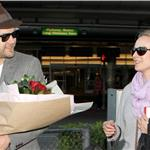 Joshua Jackson greets Diane Kruger at LAX on Valentine's Day with flowers  79215