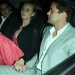Diane Kruger and Joshua Jackson leave the Women In Film celebration with IFP, Calvin Klein Collection & euphoria Calvin Klein at the 65th Cannes Film Festival  114895