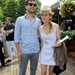 Diane Kruger and Joshua Jackson at the 2012 French Open 116174