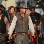 Josh Brolin in costume on the set of Jonah Hex 40249