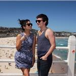 Vanessa Hudgens and Josh Hutcherson at a photo call to promote their latest movie Journey 2: The Mysterious Island at Bondi Beach Sydney 103348