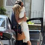 Sienna Miller Jude Law kiss goodbye in London July 2010  64528