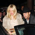 Sienna Miller Jude Law at same restaurant as Diddy in London 69675