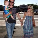 Tori Spelling and KFed Jr with son in Malibu 23478