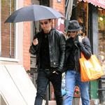 Jennifer Aniston and Justin Theroux take a walk in the rain in the West Village, NYC  94743