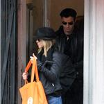 Jennifer Aniston and Justin Theroux take a walk in the rain in the West Village, NYC  94746