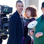 Justin Timberlake on set with Amanda Seyfried 72647