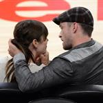 Jessica Biel and Justin Timberlake attend the Denver Nuggets vs Los Angeles Lakers game 114447
