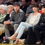 Jessica Biel and Justin Timberlake attend the Denver Nuggets vs Los Angeles Lakers game 114450