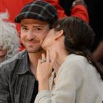 Jessica Biel and Justin Timberlake attend the Denver Nuggets vs Los Angeles Lakers game 114454