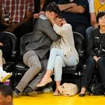 Jessica Biel and Justin Timberlake attend the Denver Nuggets vs Los Angeles Lakers game 114458