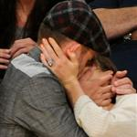 Jessica Biel and Justin Timberlake attend the Denver Nuggets vs Los Angeles Lakers game 114459