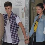 Justin Bieber and girlfriend Selena Gomez visit the Starship Childrens Hospital in Auckland, New Zealand 121200