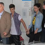 Justin Bieber and girlfriend Selena Gomez visit the Starship Childrens Hospital in Auckland, New Zealand 121201