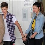 Justin Bieber and girlfriend Selena Gomez visit the Starship Childrens Hospital in Auckland, New Zealand 121204
