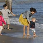 Justin Bieber and Selena Gomez spend the day at the beach in Malibu with his half siblings Jaxson and Jazmyn 106533