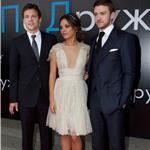 Justin Timberlake, Mila Kunis, Will Gluck at Friends With Benefits Moscow Premiere  90737