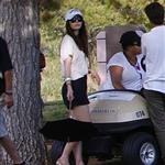 Jessica Biel watches Justin Timberlake play golf at his tournament in Vegas 2011  95289