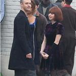 Justin Timberlake and Amanda Seyfried on the set of NOW 75095