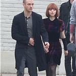 Justin Timberlake and Amanda Seyfried on the set of NOW 75099