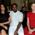 Kim Kardashian, Kanye West and Clemence Poesy attend the Valentino Haute-Couture show as part of Paris Fashion Week 119687