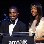 Kanye West and Naomi Campbell present together at AMFAR Cannes 2011 85824