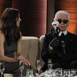 Karl Lagerfeld and Jessica Biel on Wetten Dass in Germany  99871