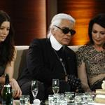 Karl Lagerfeld and Jessica Biel on Wetten Dass in Germany  99879